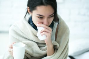 woman sick