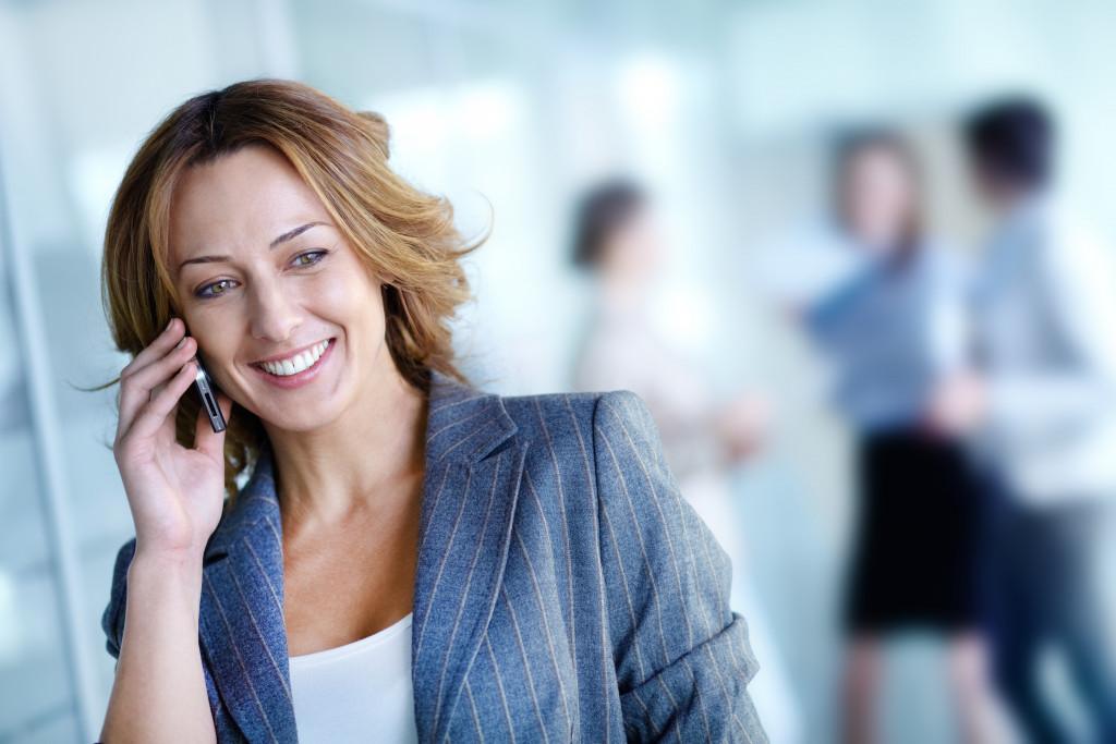 employee having a call