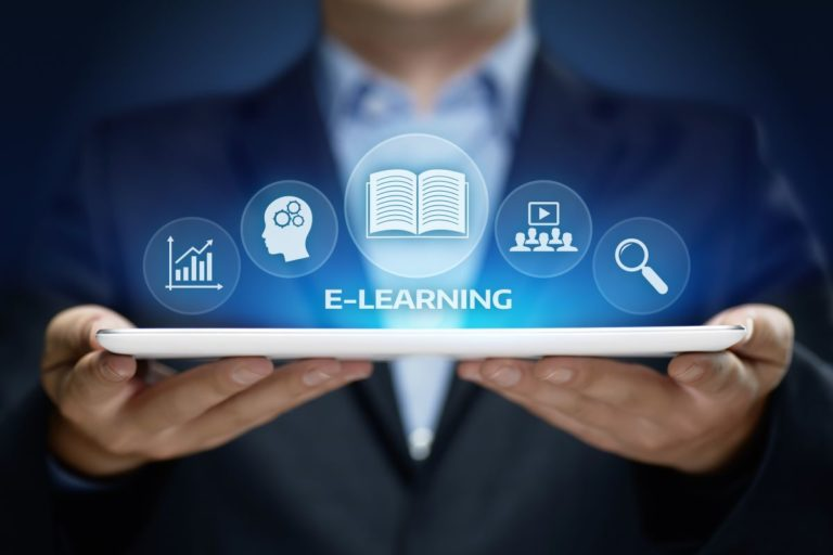 eLearning technology concept