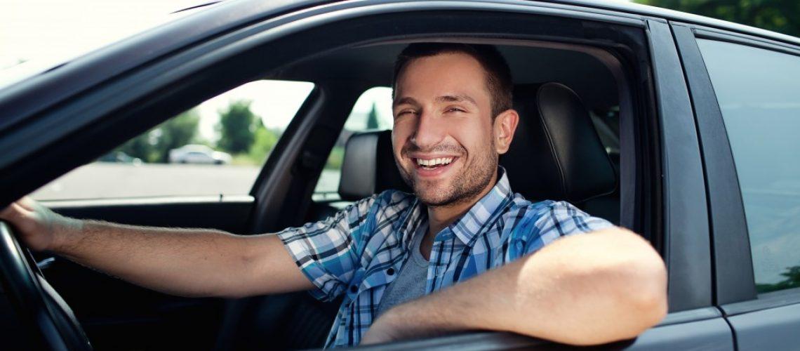 man inside a car
