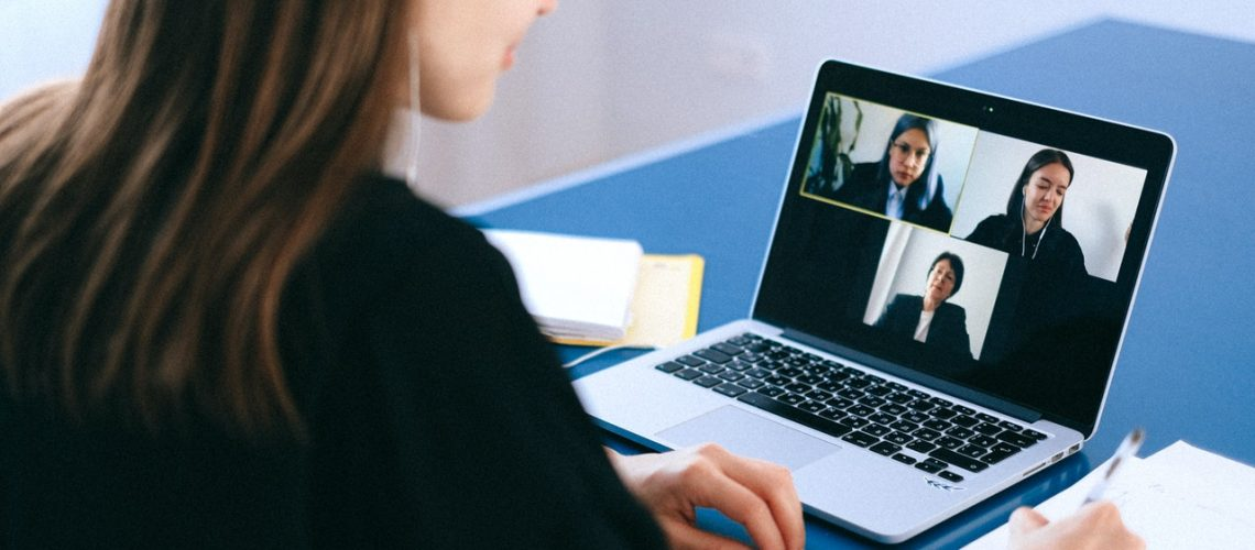 woman doing a video conference